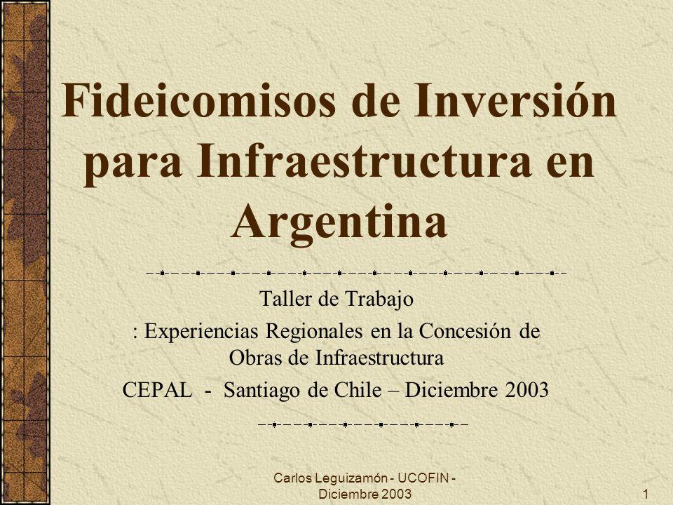 Fideicomisos de Inversión para Infraestructura en Argentina