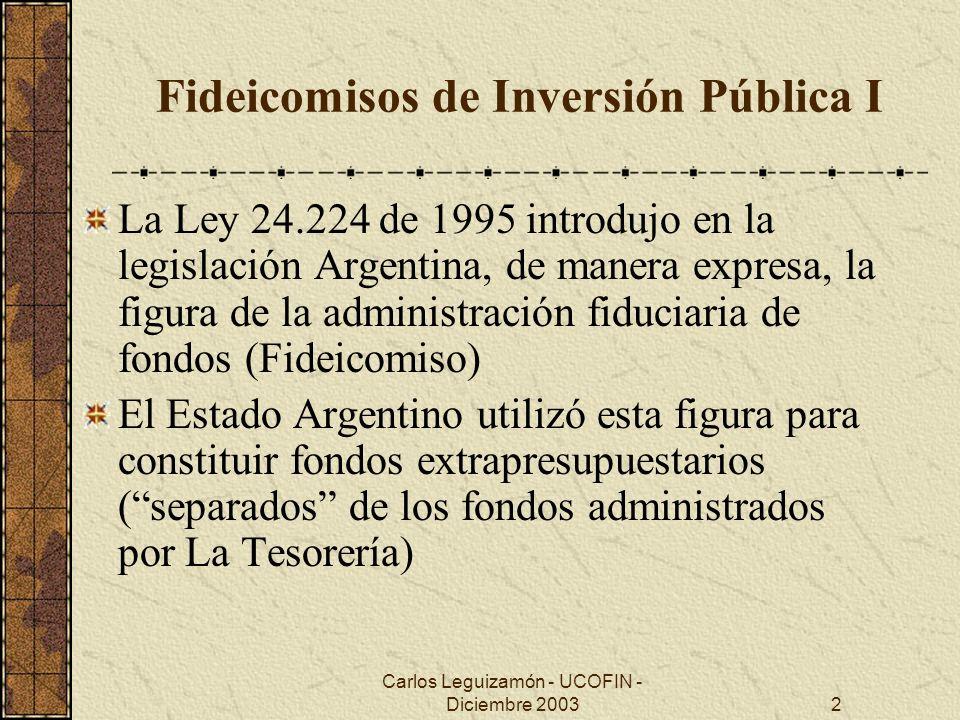 Fideicomisos de Inversión Pública I