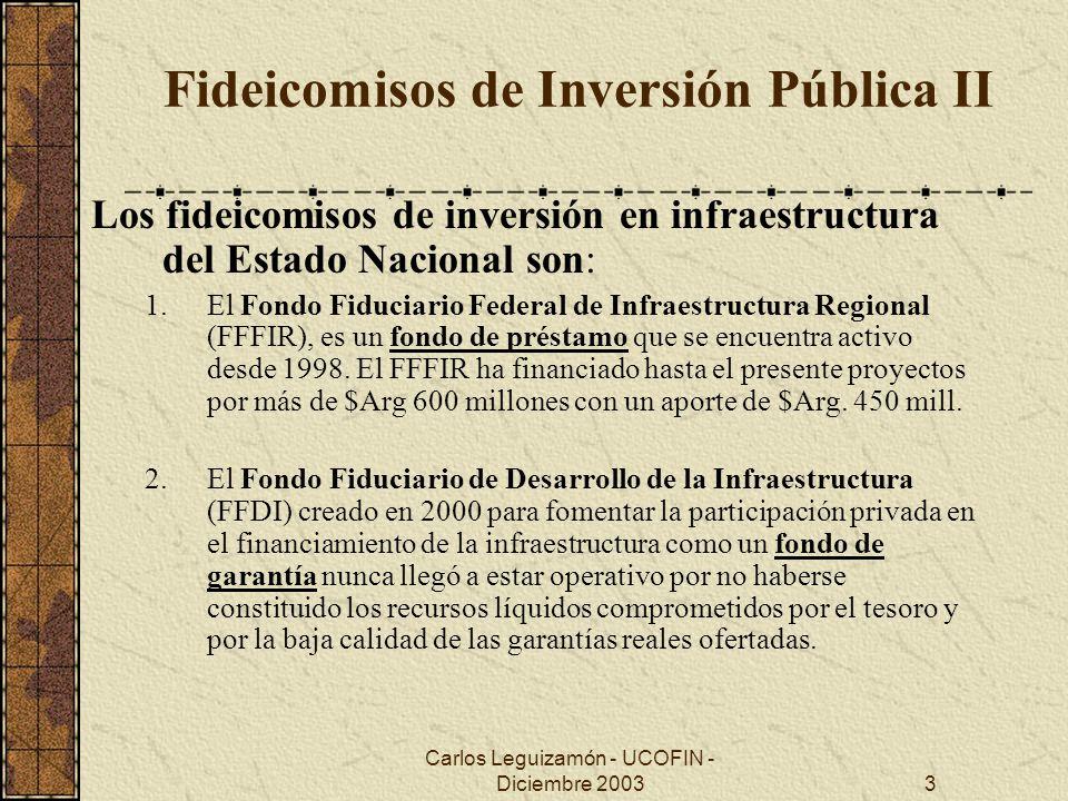 Fideicomisos de Inversión Pública II