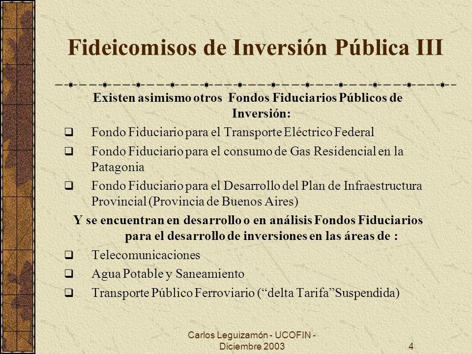 Fideicomisos de Inversión Pública III