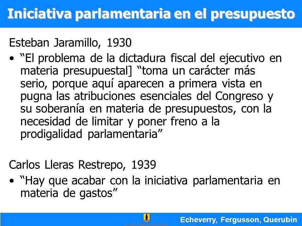 Iniciativa parlamentaria en el presupuesto