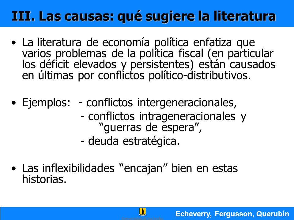 III. Las causas: qué sugiere la literatura