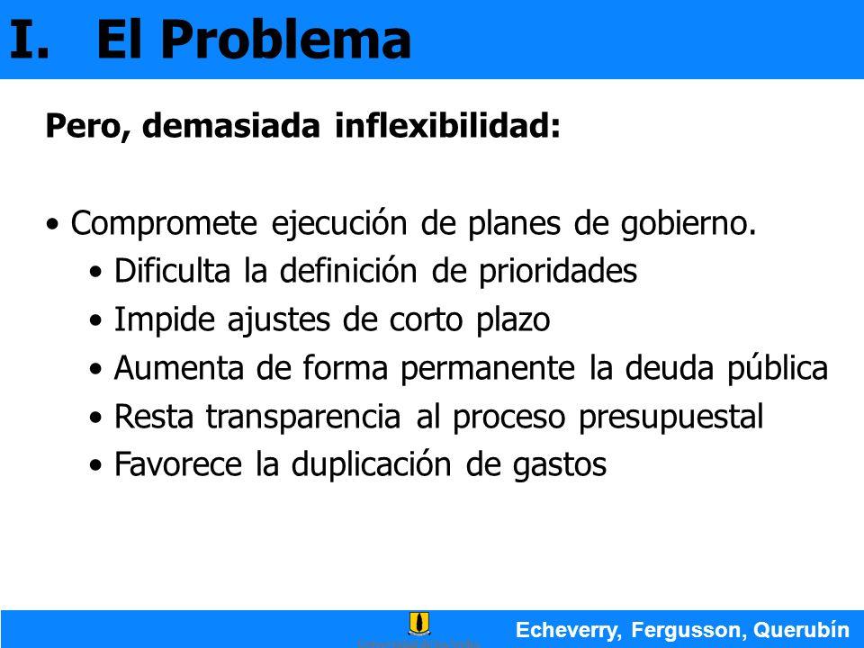 I. El Problema Pero, demasiada inflexibilidad: