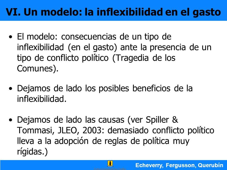 VI. Un modelo: la inflexibilidad en el gasto