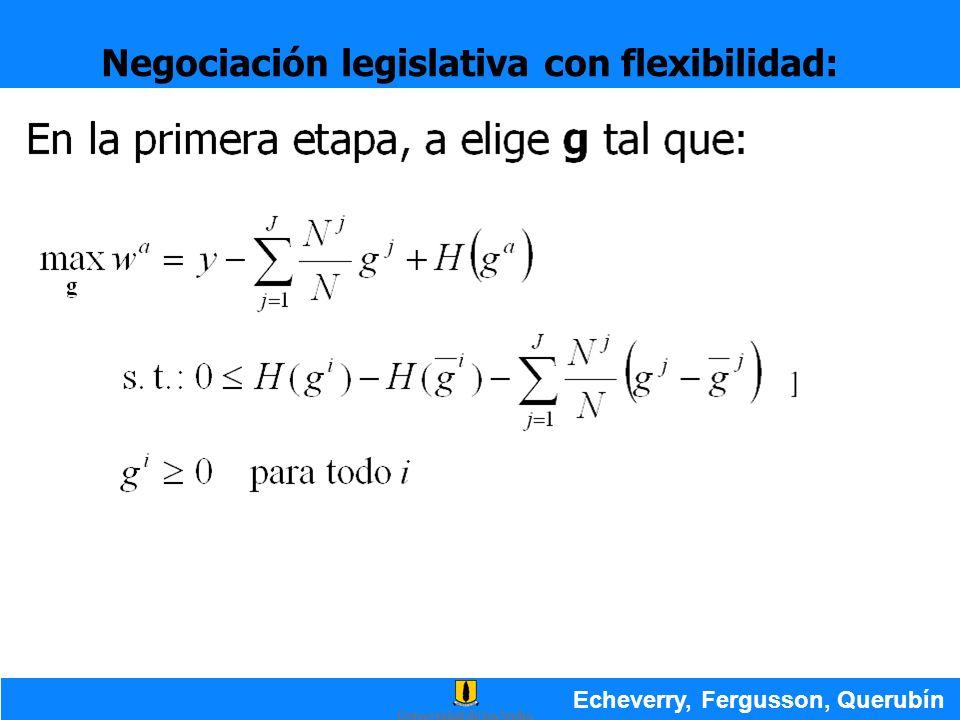 Negociación legislativa con flexibilidad: