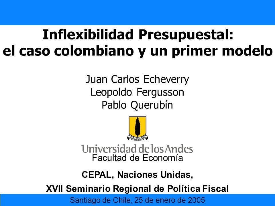 Inflexibilidad Presupuestal: el caso colombiano y un primer modelo