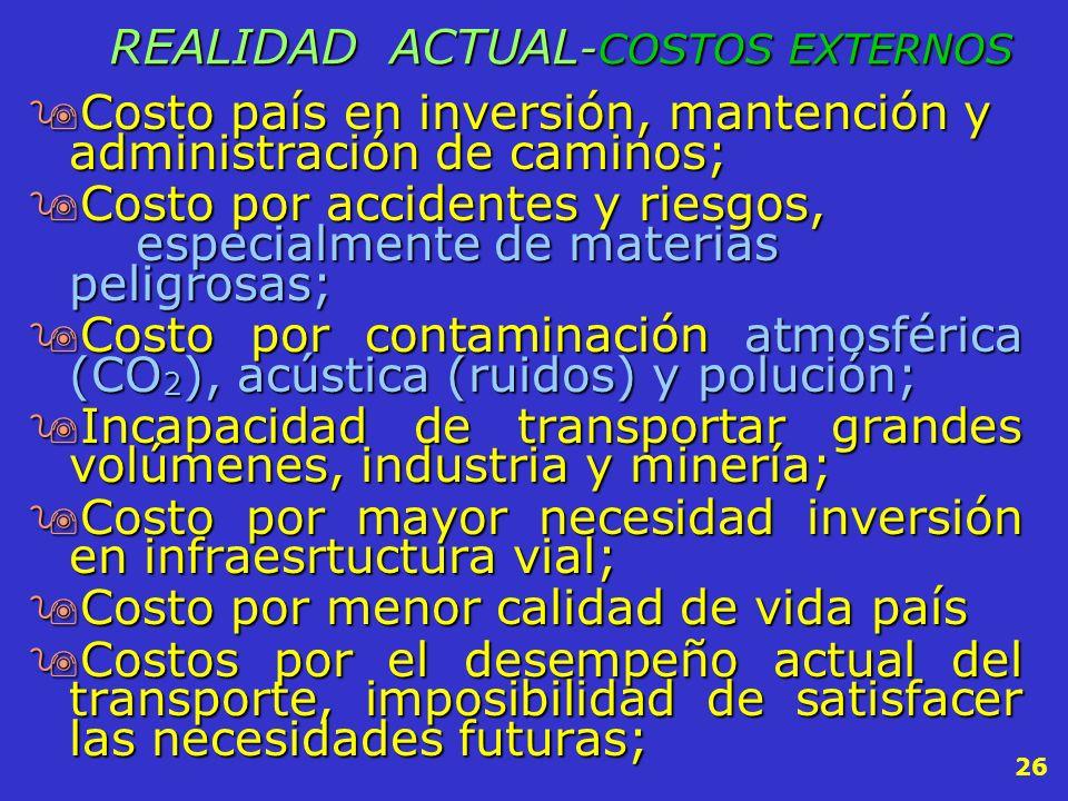REALIDAD ACTUAL-COSTOS EXTERNOS