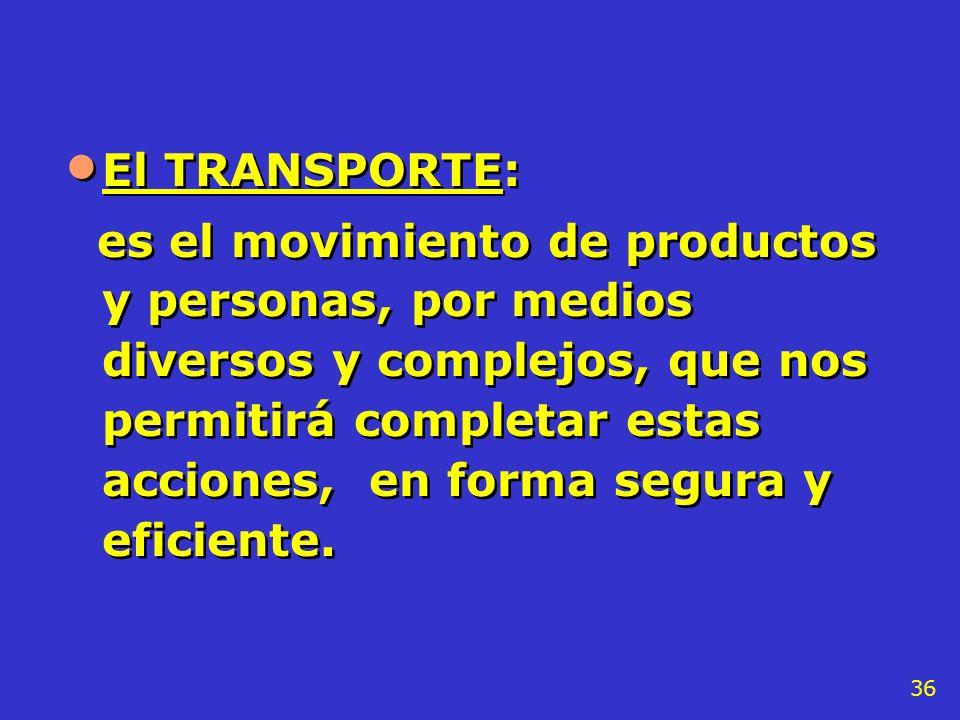 El TRANSPORTE:
