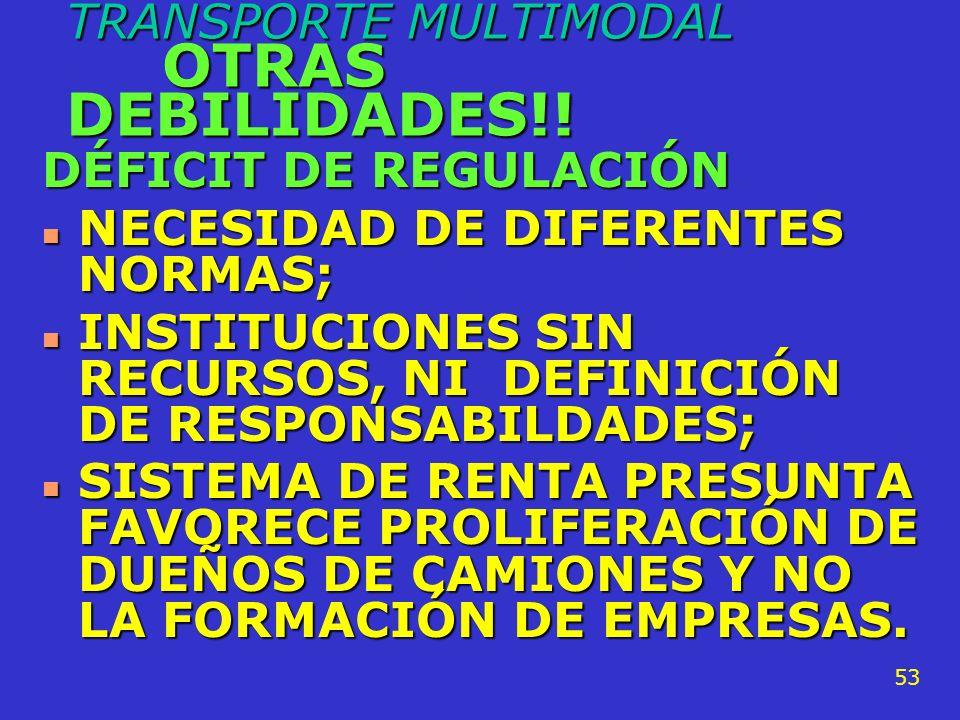 TRANSPORTE MULTIMODAL OTRAS DEBILIDADES!!