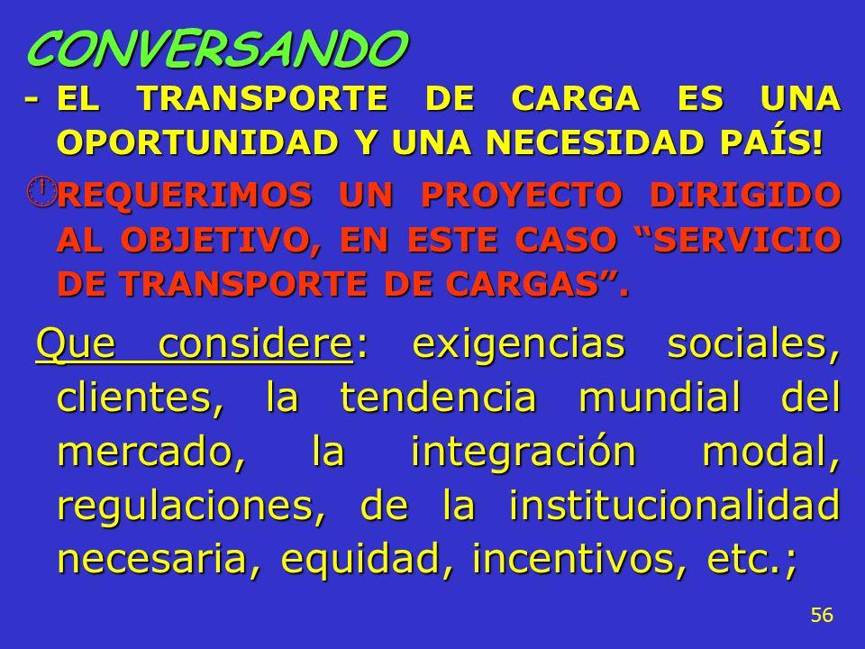 CONVERSANDO - EL TRANSPORTE DE CARGA ES UNA OPORTUNIDAD Y UNA NECESIDAD PAÍS!