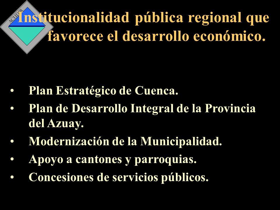 Institucionalidad pública regional que favorece el desarrollo económico.