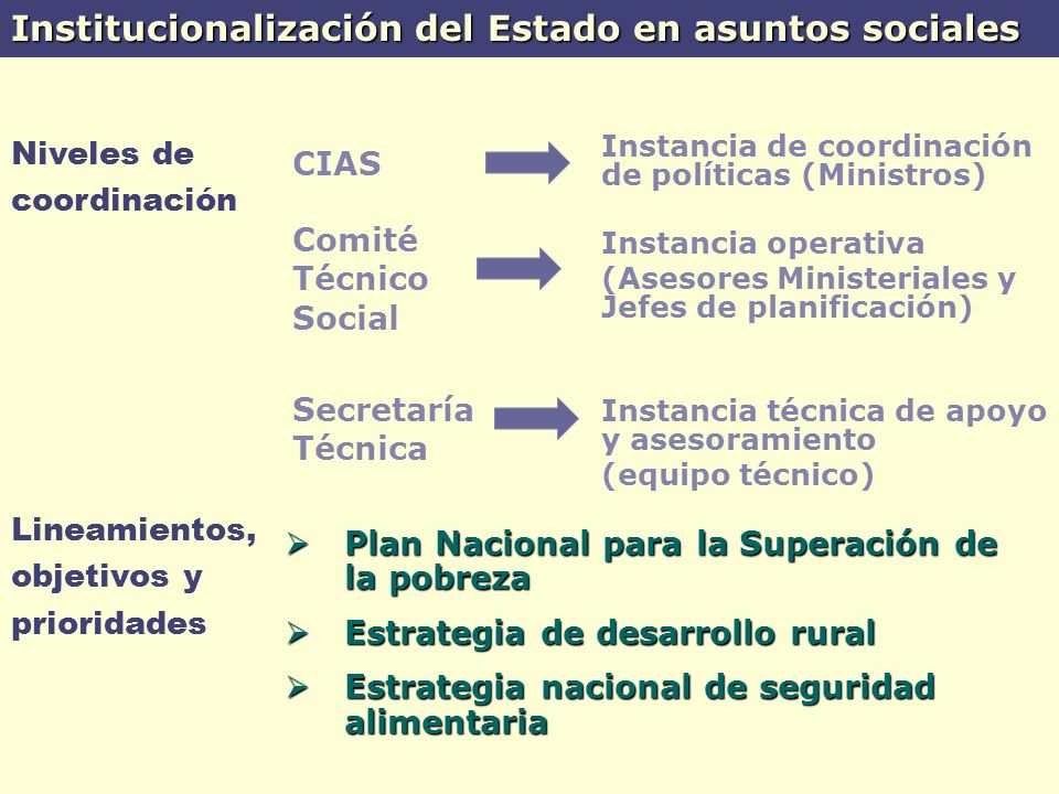 Institucionalización del Estado en asuntos sociales