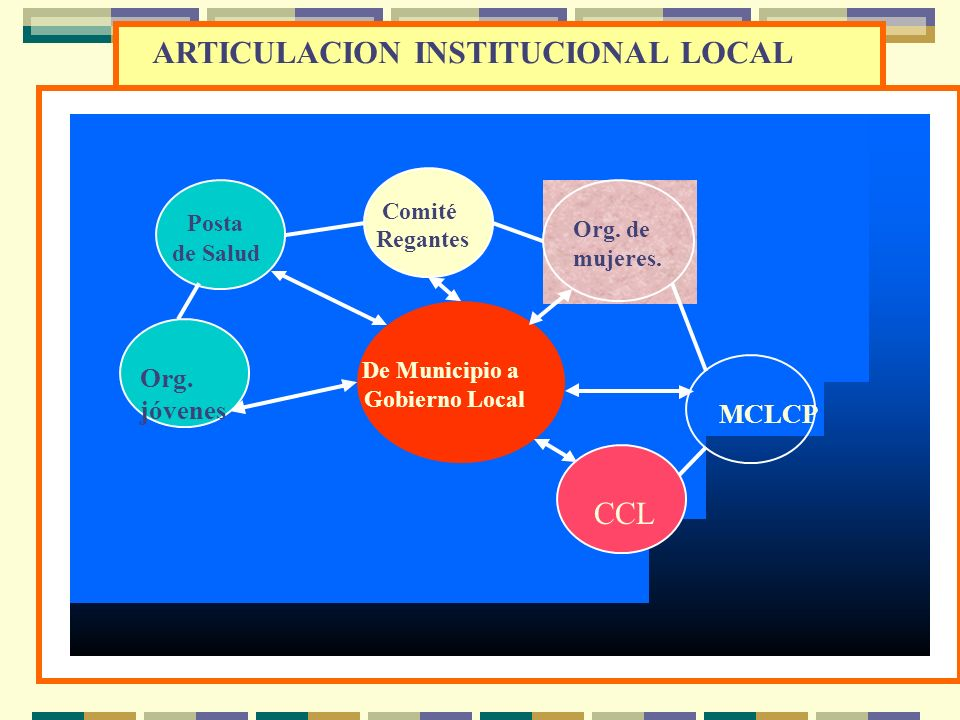 ARTICULACION INSTITUCIONAL LOCAL