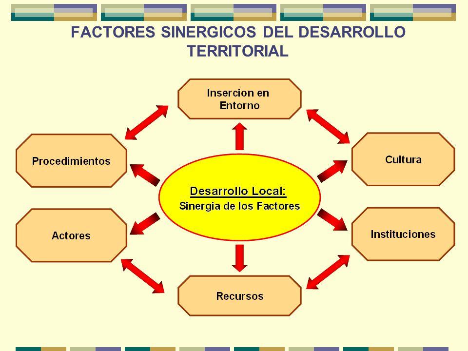 FACTORES SINERGICOS DEL DESARROLLO TERRITORIAL