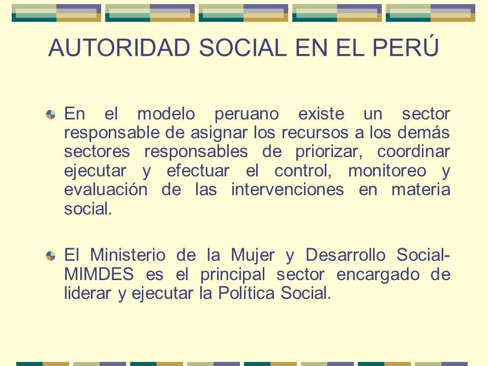 AUTORIDAD SOCIAL EN EL PERÚ
