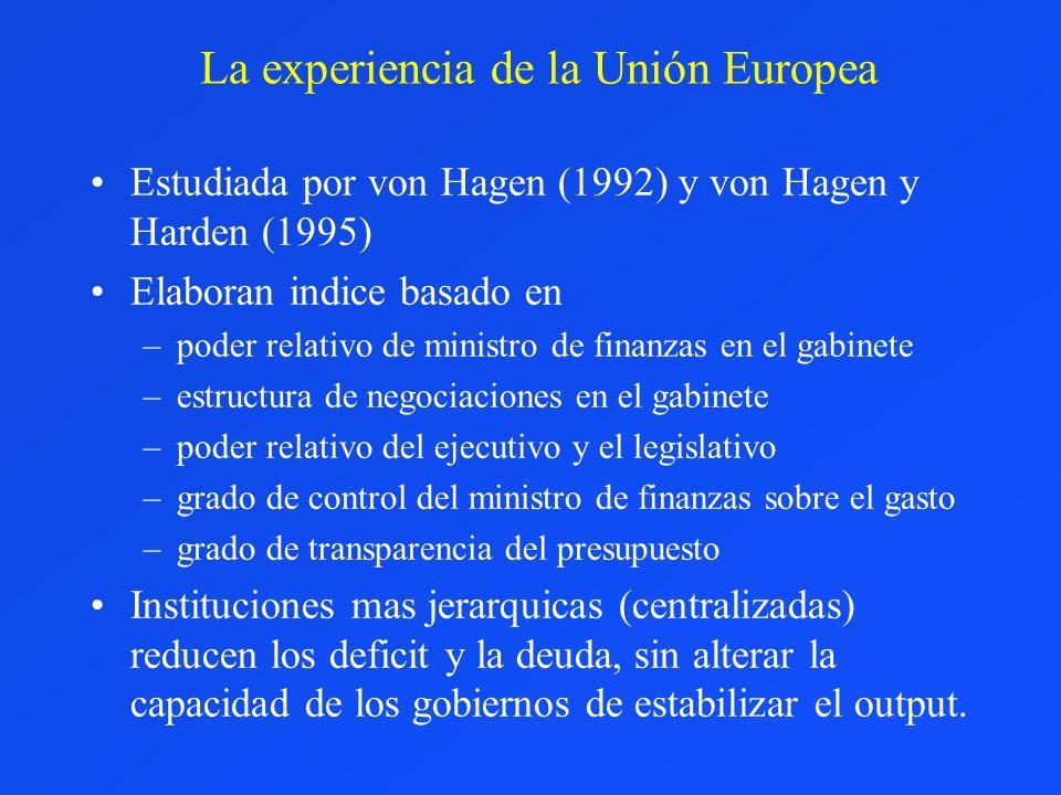 La experiencia de la Unión Europea