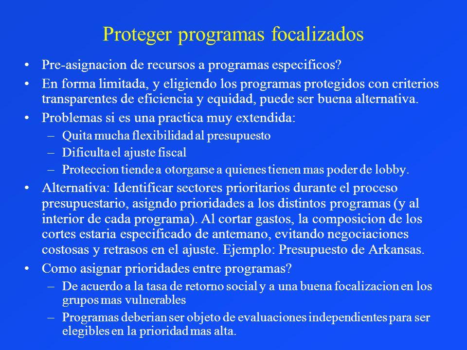 Proteger programas focalizados