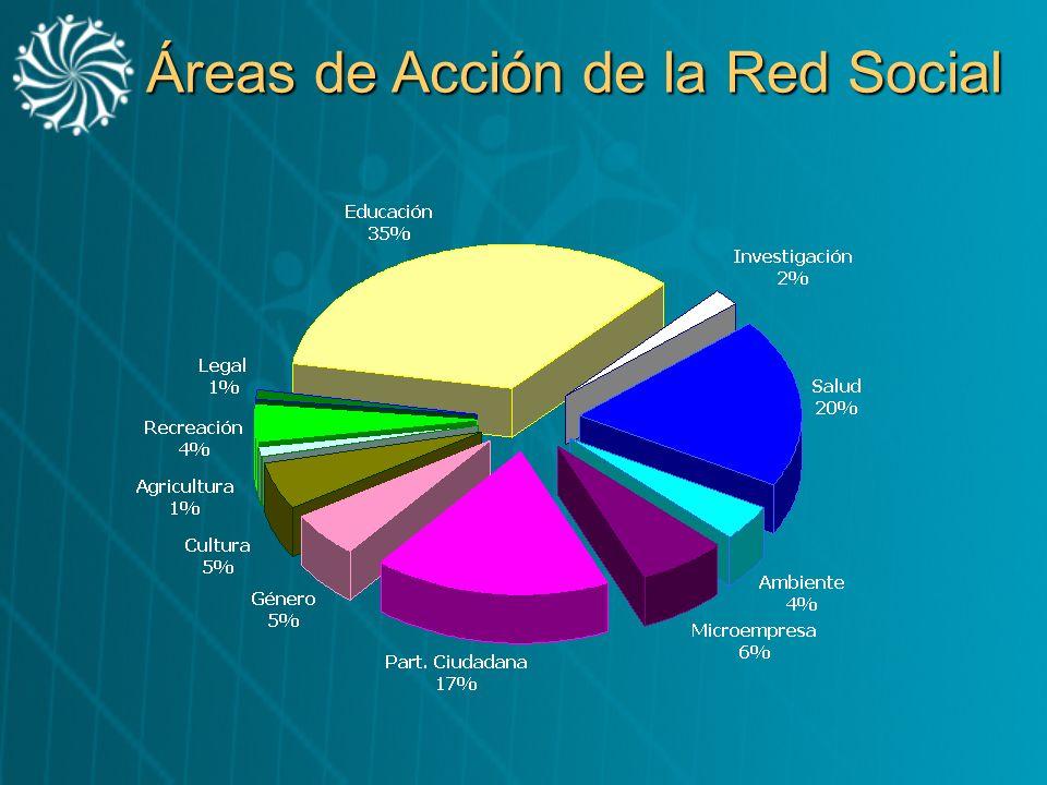 Áreas de Acción de la Red Social