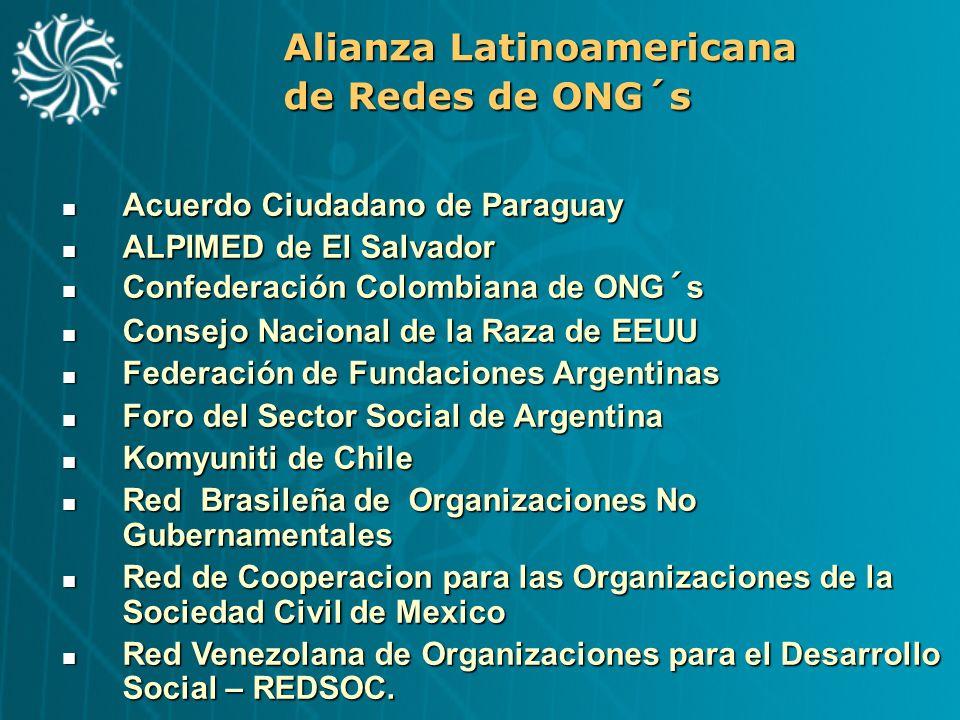Alianza Latinoamericana de Redes de ONG´s