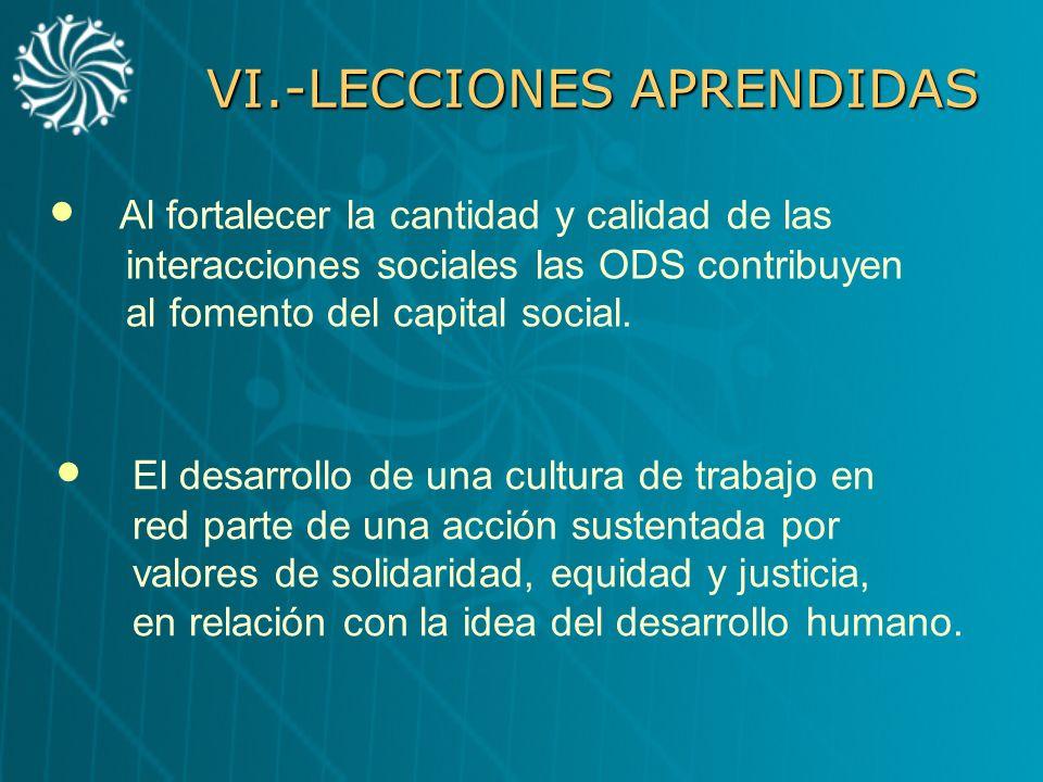 VI.-LECCIONES APRENDIDAS