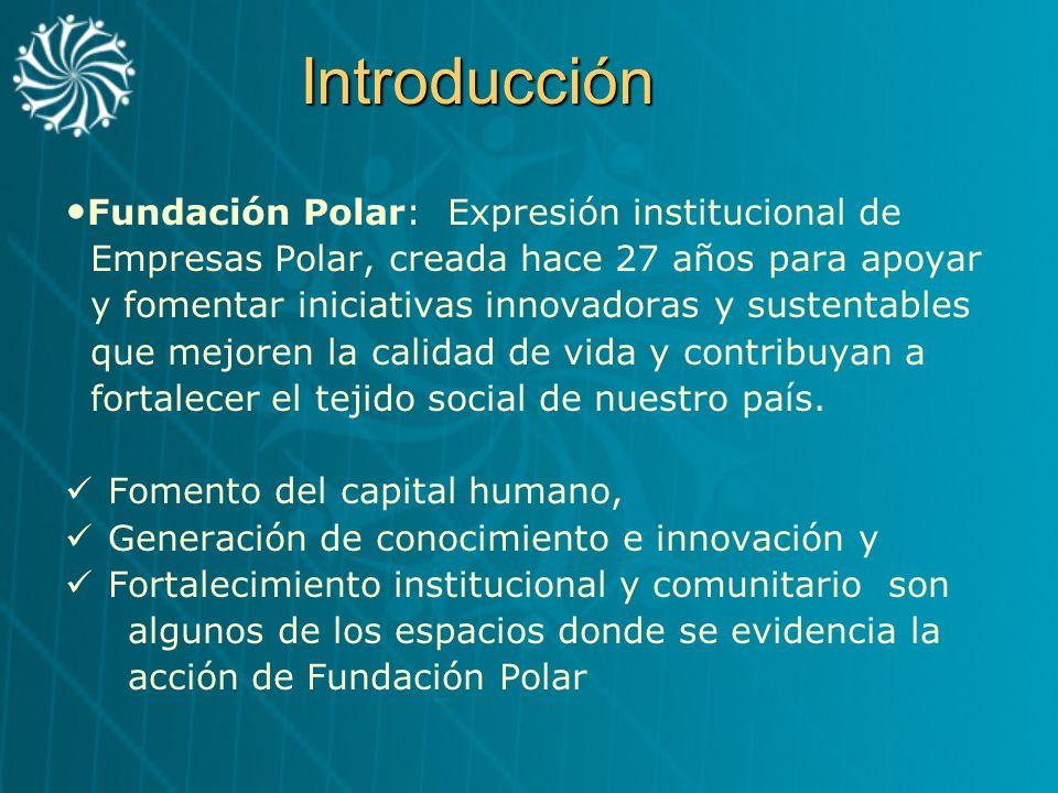 Introducción Fundación Polar: Expresión institucional de
