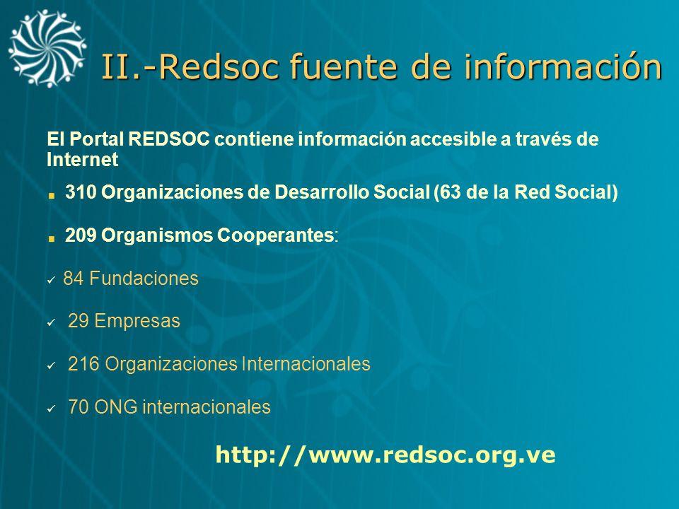 II.-Redsoc fuente de información