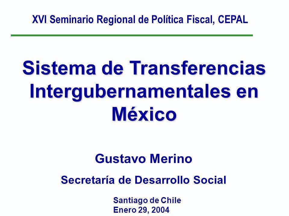 Sistema de Transferencias Intergubernamentales en México