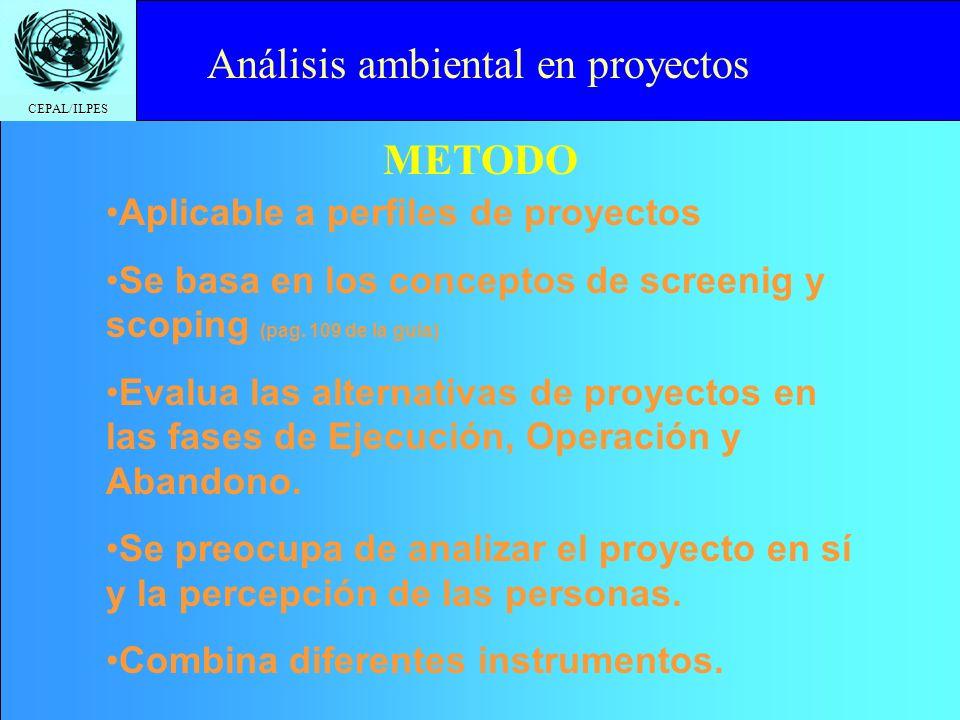 Análisis ambiental en proyectos