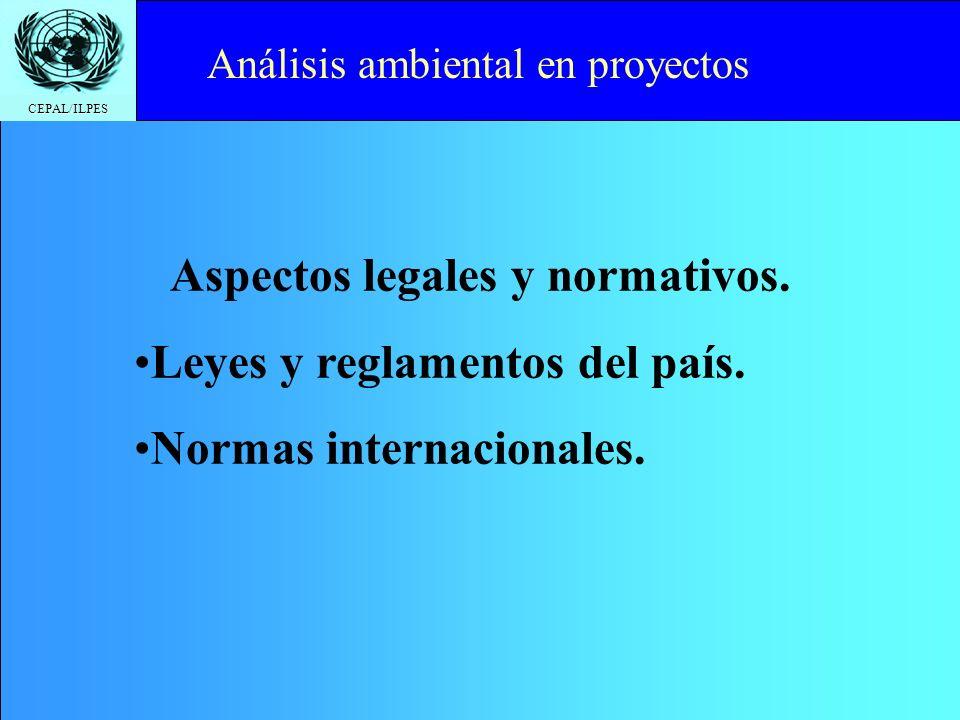 Aspectos legales y normativos.