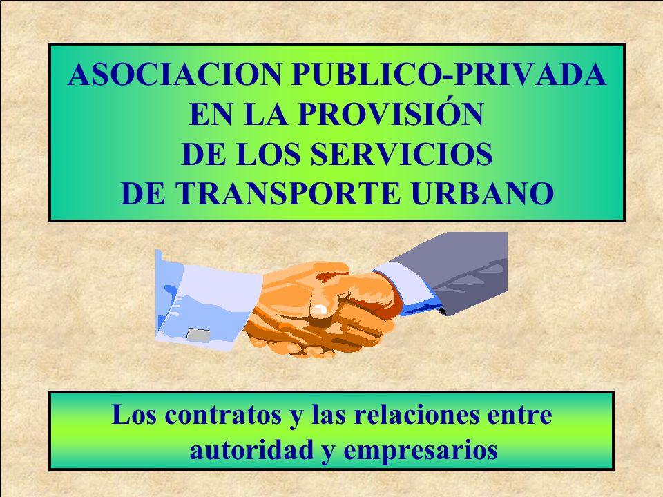 Los contratos y las relaciones entre autoridad y empresarios