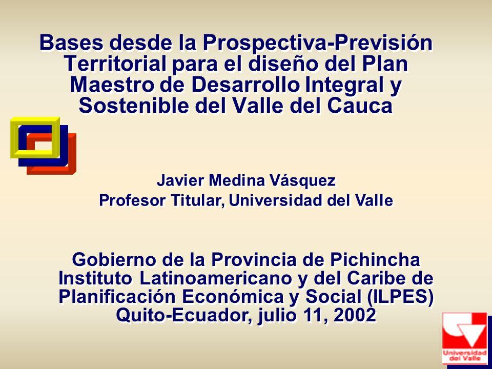 Javier Medina Vásquez Profesor Titular, Universidad del Valle