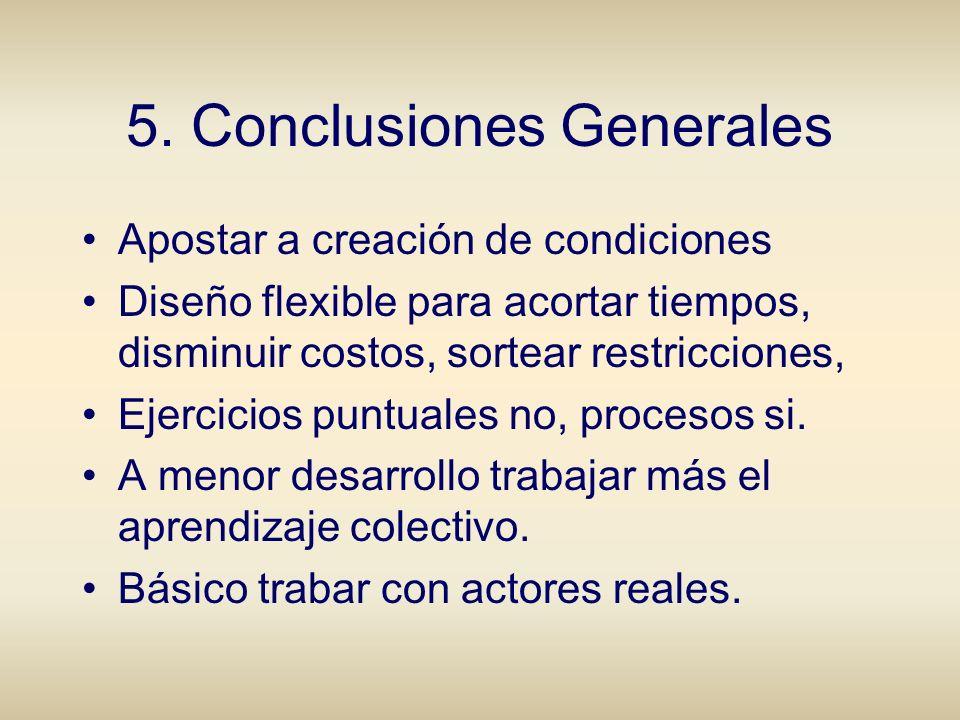 5. Conclusiones Generales