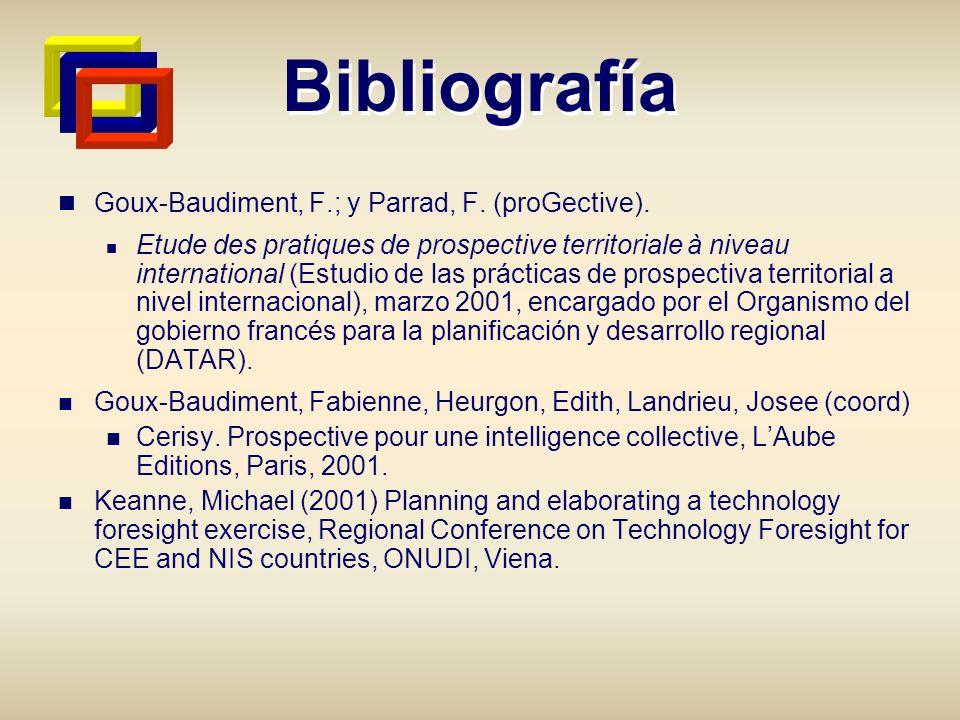Bibliografía Goux-Baudiment, F.; y Parrad, F. (proGective).