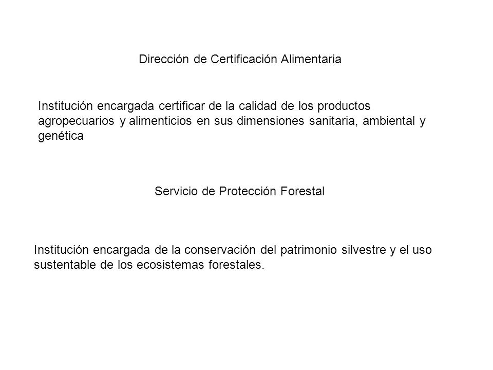 Dirección de Certificación Alimentaria