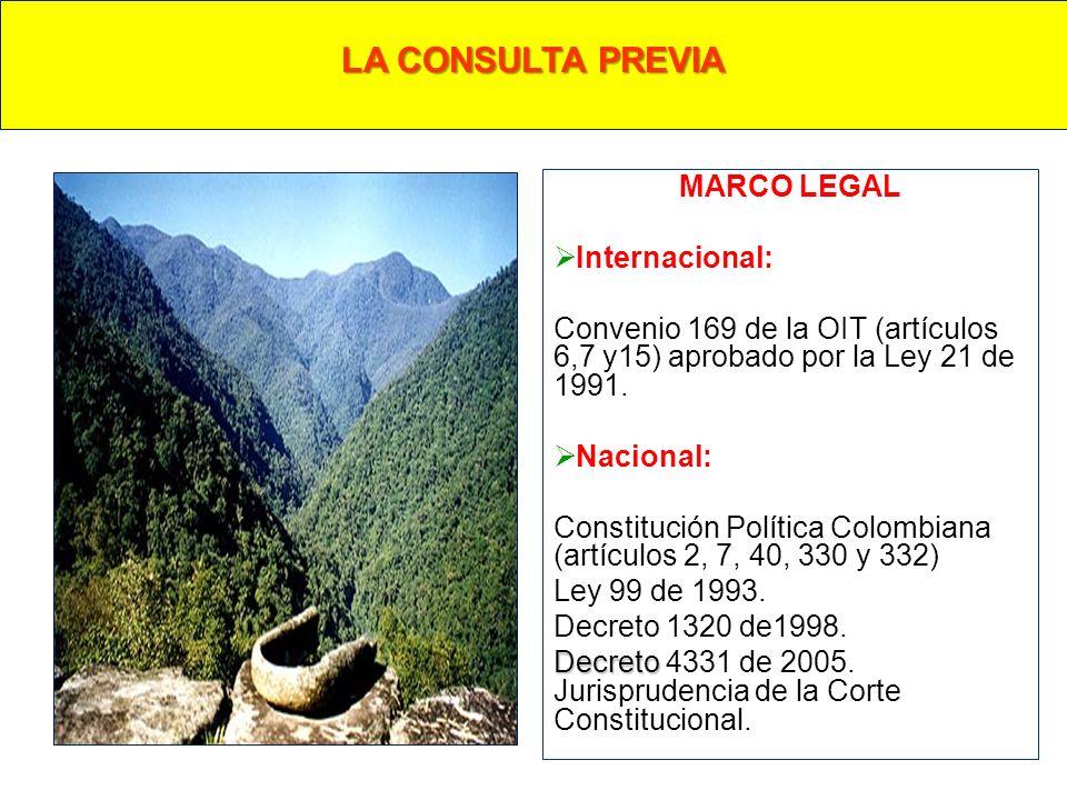 LA CONSULTA PREVIA MARCO LEGAL Internacional: