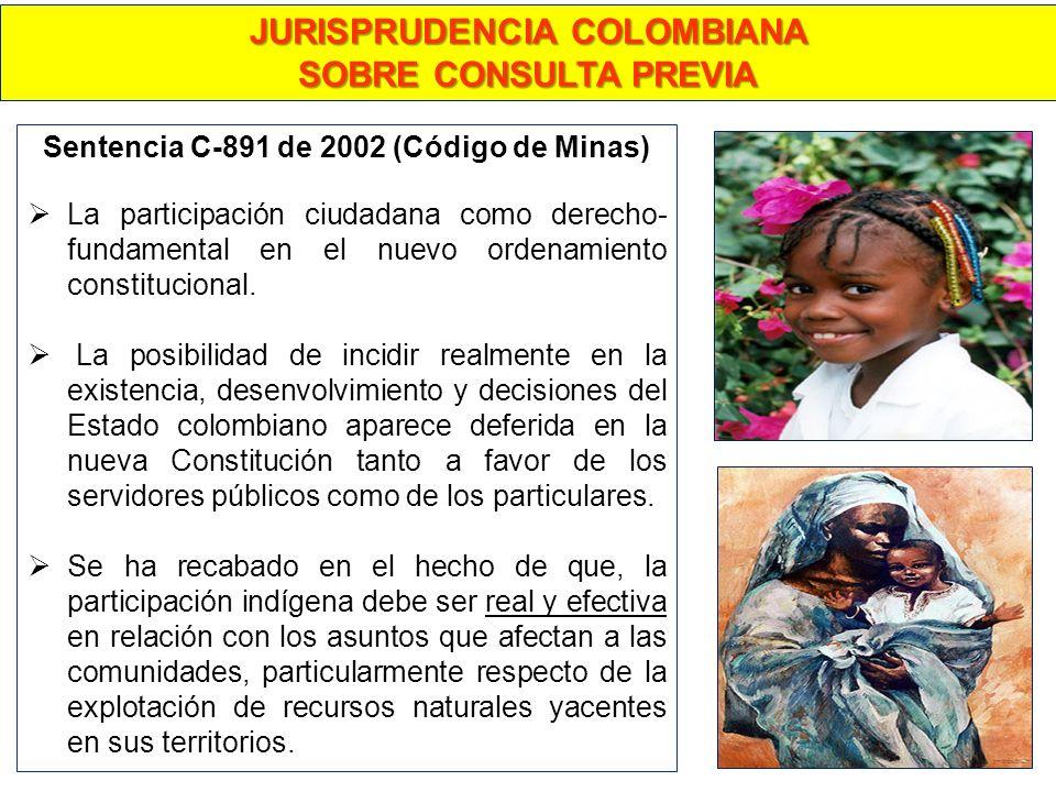 JURISPRUDENCIA COLOMBIANA Sentencia C-891 de 2002 (Código de Minas)