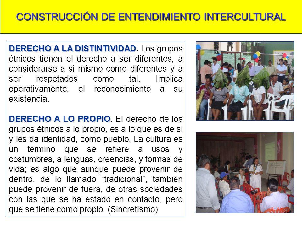CONSTRUCCIÓN DE ENTENDIMIENTO INTERCULTURAL