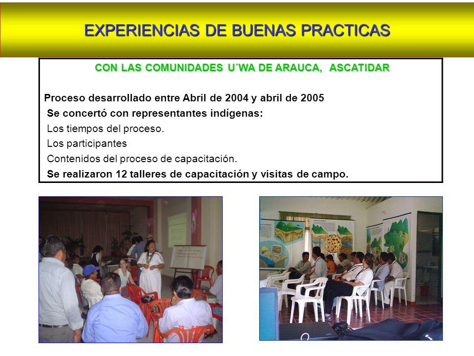 CON LAS COMUNIDADES U´WA DE ARAUCA, ASCATIDAR