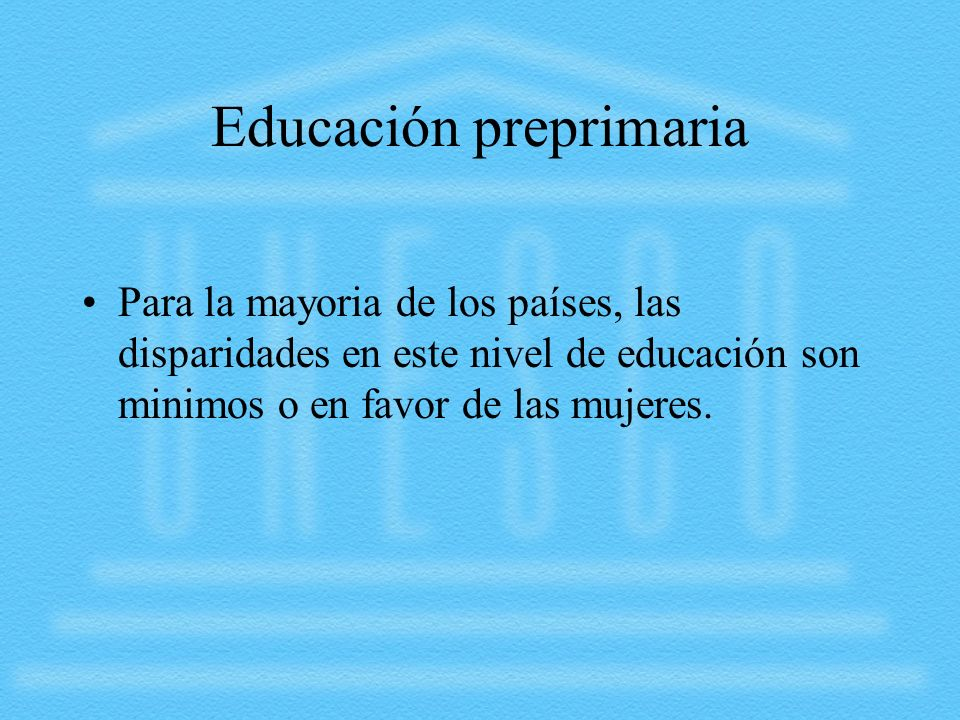 Educación preprimaria