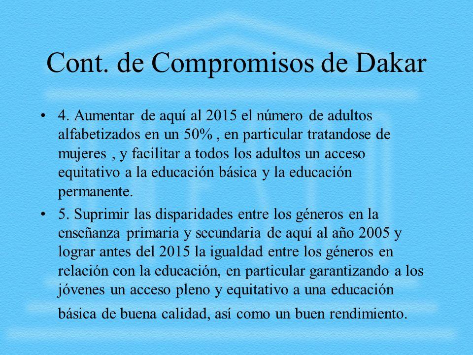 Cont. de Compromisos de Dakar
