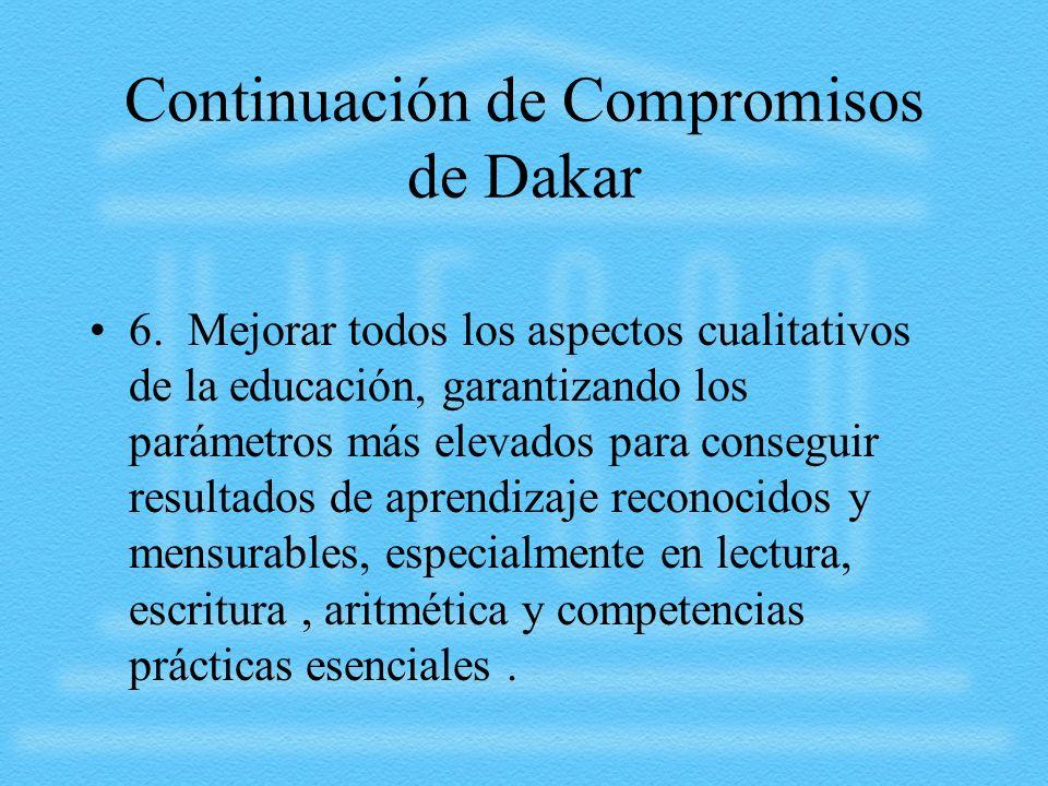 Continuación de Compromisos de Dakar