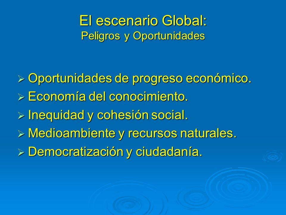 El escenario Global: Peligros y Oportunidades