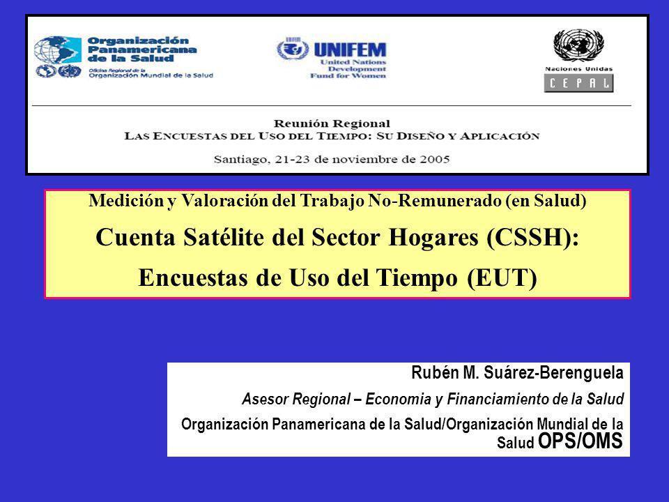 Cuenta Satélite del Sector Hogares (CSSH):