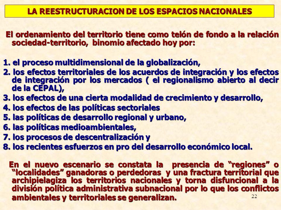 LA REESTRUCTURACION DE LOS ESPACIOS NACIONALES