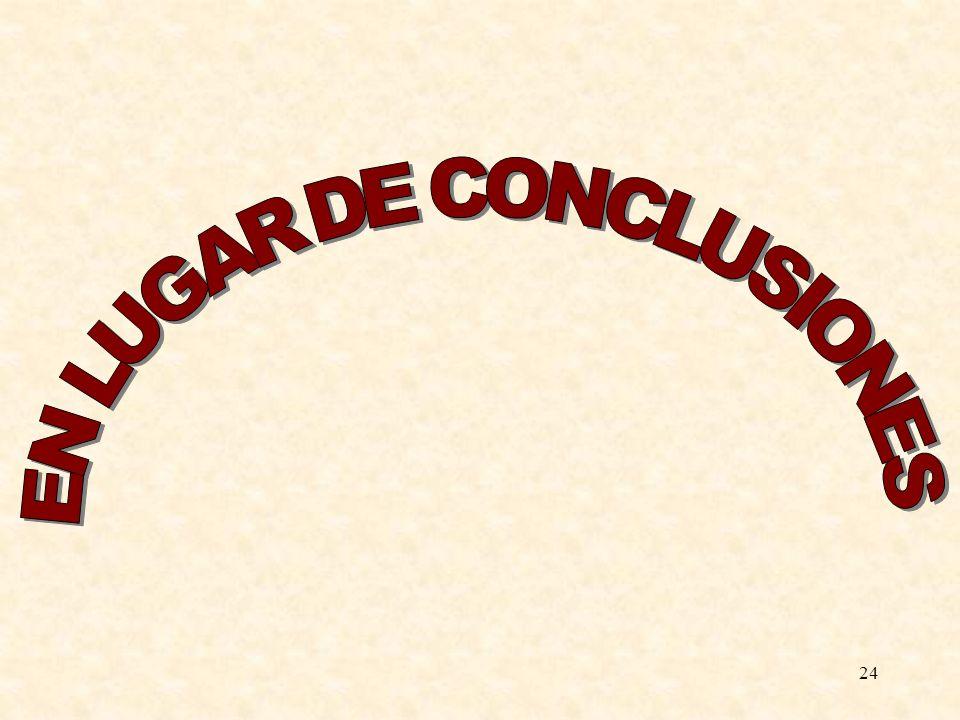 EN LUGAR DE CONCLUSIONES