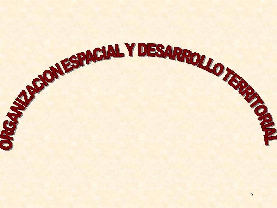 ORGANIZACION ESPACIAL Y DESARROLLO TERRITORIAL