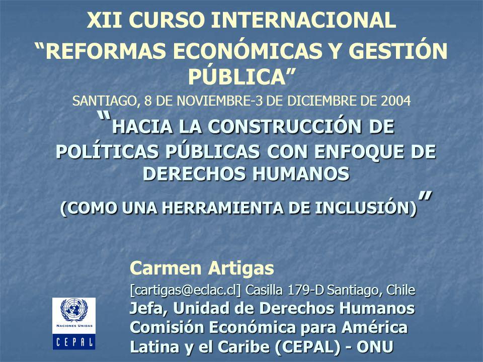 XII CURSO INTERNACIONAL REFORMAS ECONÓMICAS Y GESTIÓN PÚBLICA