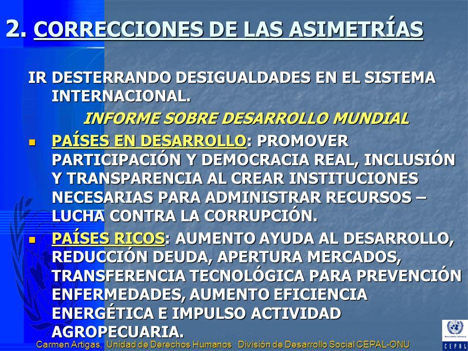2. CORRECCIONES DE LAS ASIMETRÍAS