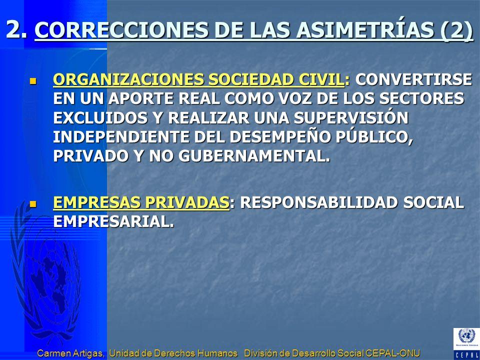2. CORRECCIONES DE LAS ASIMETRÍAS (2)