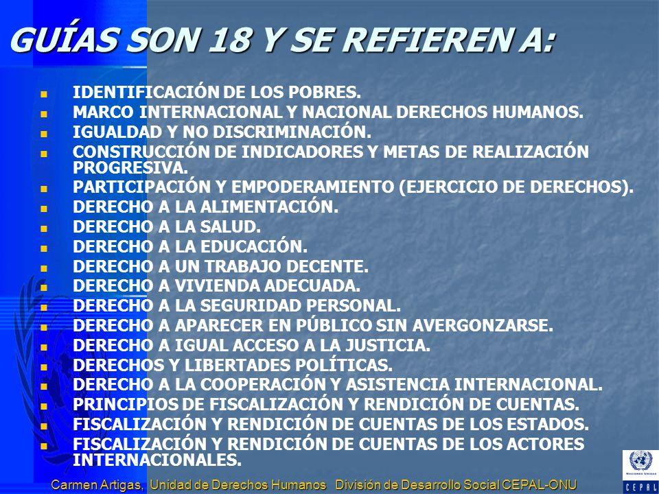 GUÍAS SON 18 Y SE REFIEREN A: